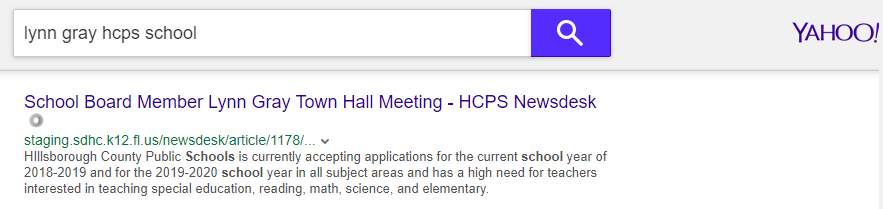 hcsb yahoo search result