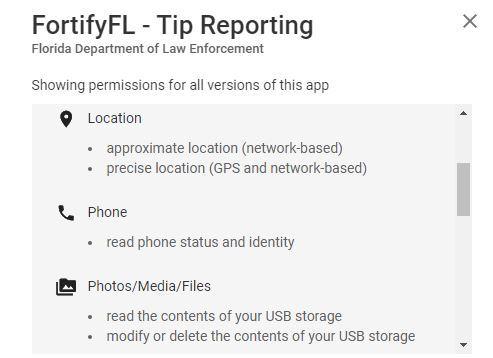 GooglePlayFortifyFLPermissions